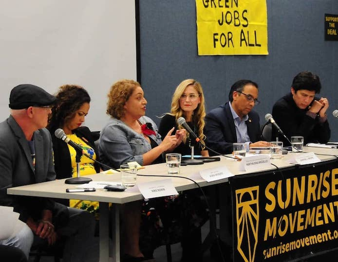 Community leaders join the Los Angeles hub for a town hall and panel to discuss the Green New Deal.